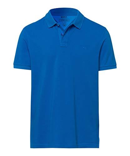 BRAX Herren Style Pelé Garment Dye Piqué Poloshirt, Blau (Imperial 26), XL EU