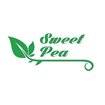 PressFans - Sweet Pea Flowers Car Laptop Wall Sticker