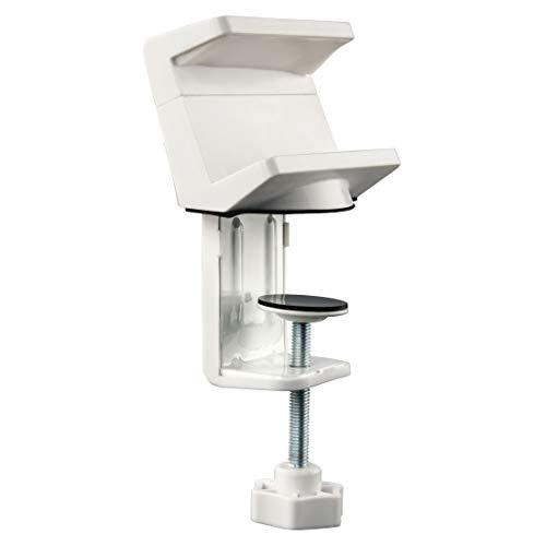 Hama Tisch-Halterung für Steckdosenleisten (Mehrfachsteckdosen Klemmhalter mit Kabelmanager, für Schreibtisch/Tischplatte, klemmbare/schraubbare Tisch-Befestigung) Tischklemme Mehrfachsteckerleiste