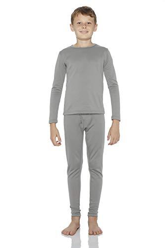 Rocky Thermal Underwear for Boys (Thermal Long Johns Set) Shirt & Pants, Base Layer w Leggings Bottoms Ski Extreme Cold (Grey - Medium)