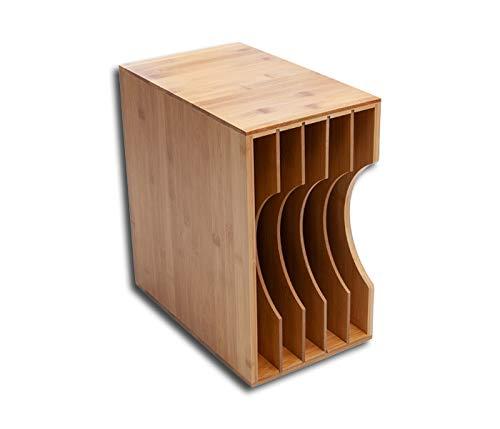 LP Schallplatten Box Bambus Protected