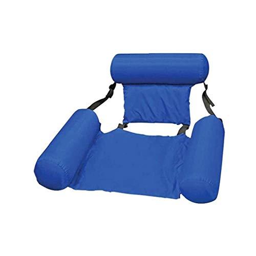 Acqua Gonfiabile Lettino Basculante Amache Per Piscina Leisure Pool Chair Air Divano Blu