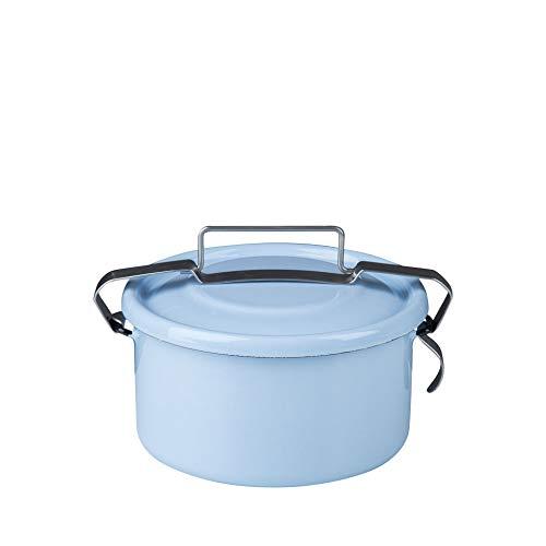 Riess 0316-006 - Classic-Household articles Colour/Pastel Kochtopf rund, Durchmesser 14 cm, blau