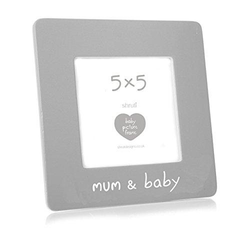 Maman et bébé – Lovely Shruti Gris en céramique Cadre photo 12,7 x 12,7 cm pour la fête