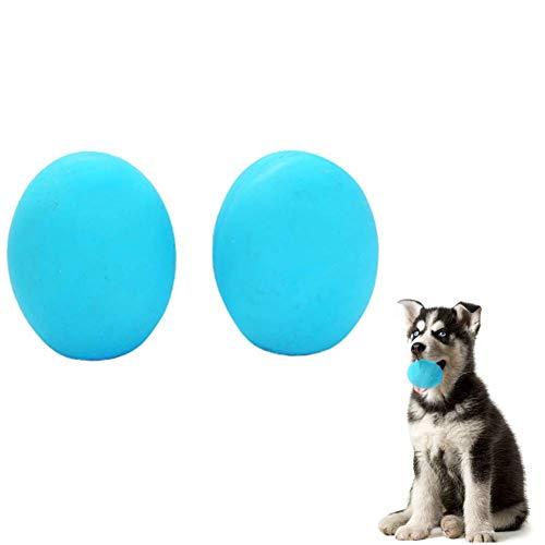 ppactvo Hundeball Springkugel FüR Hunde UnzerstöRbares Naturkautschuk Bouncy Dog Ball BissbestäNdiges Ungiftiges ZäHes Kauspielzeug FüR Kleine Bis Mittlere Hunde Random Color