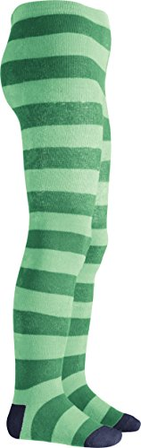 Playshoes Thermostrumpfhose Blockringel, Collants Fille, Vert (Grün), 110 (Taille fabricant: 110/116)