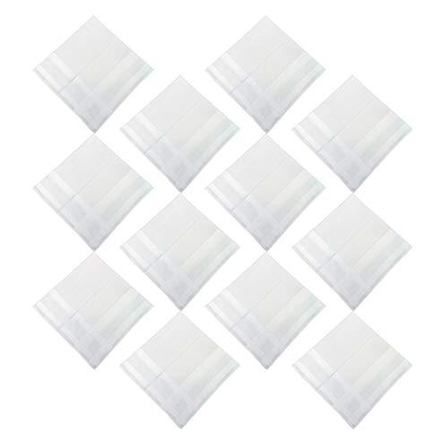 chiwanji 12 x Herren Stoff Taschentücher 100% Baumwolle, weiße Taschentuch zum besticken und basteln - weiß, 43x43cm
