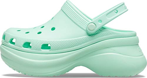 Crocs Women's Classic Bae Clog | Platform Shoes, Neo Mint, 6