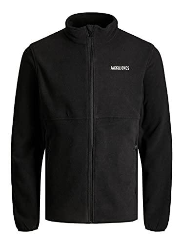 Jack & Jones Jjhype Fleece Blouson de Polyester molletonn, Noir, M Homme