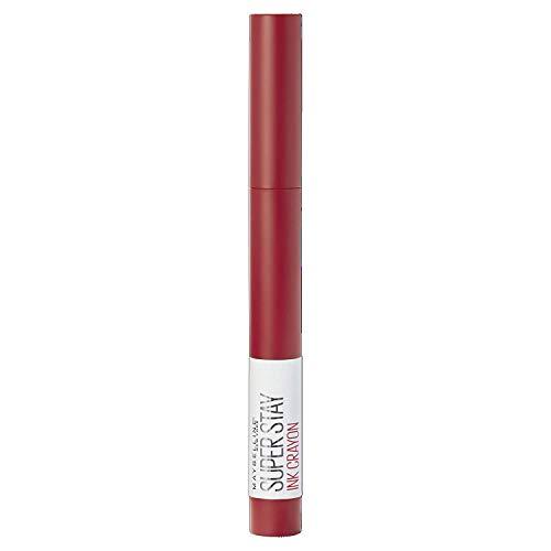 Maybelline New York Lippenstift Matt Lange Haltbarkeit SuperStay Ink Crayon Tono 45 Hustle in Heels Rot
