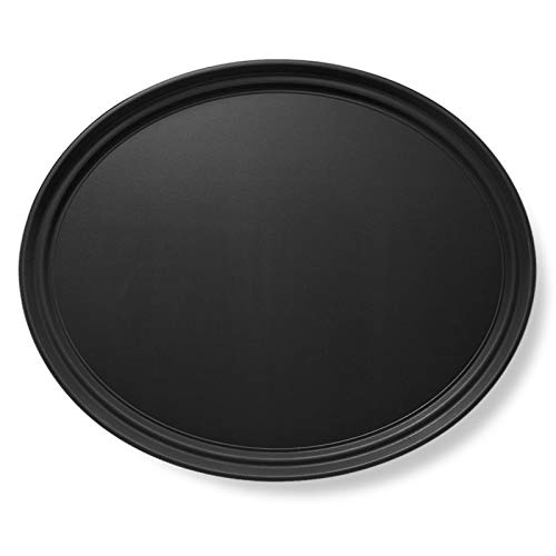 """Jubilee 25"""" Oval Restaurant Serving Tray, Black - NSF Certified Non-Skid Food Service Tray -  OA25-BLK"""