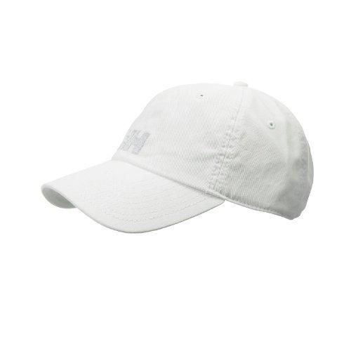 Helly Hansen Logo Cap Gorra Unisex 100% algodón para protegerse del Sol Durante Actividades al Aire Libre, Hombre, Blanco, STD
