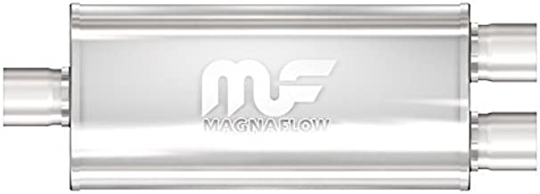 Magnaflow 12198 Satin Stainless Steel Dual Oval Muffler by Magnaflow