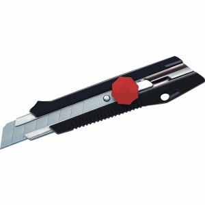 Ecobra Cutter Klinge 18mm schwarz/rot Metallführung