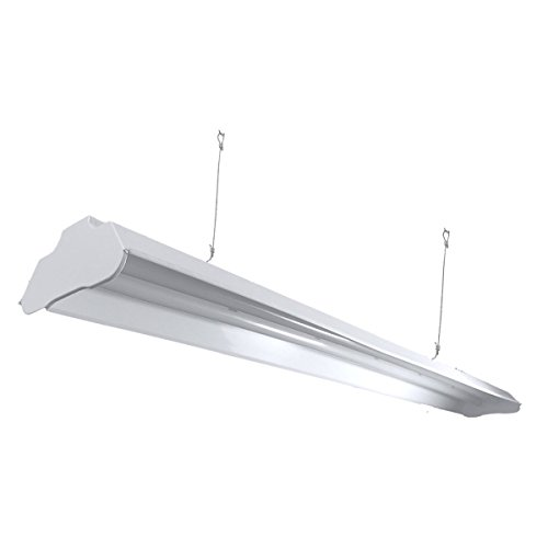 Archipelago Utility LED Shop Light, 30' Integrated LED Shop Light Fixture with 5FT Cord, 30W, 2700 Lumens, 4100K (Natural White), Frosted Lens (LEDs Integrated w/Fixture), ETL & Energy Star Listed