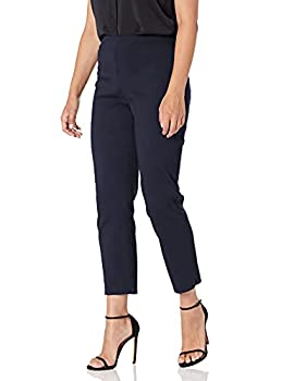 Briggs New York Women s Super Stretch Millennium Slimming Pull-on Ankle Pant Navy 12