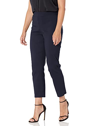 Briggs New York Women's Super Stretch Millennium Slimming Pull-on Ankle Pant, Navy, 12