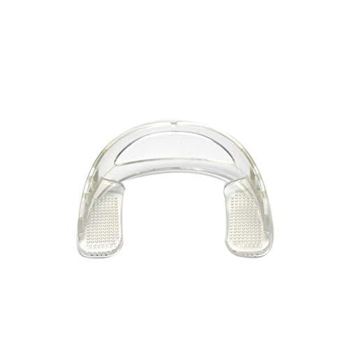 Anti-Schleifzähne Wache Mundschutz, Erwachsene Molaren Schlafen in Der Nacht Kiefer Pads Anti-Abrasive Artefakt Verschleißfestes Silikon,Clear