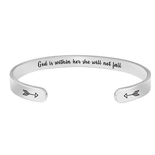 BTYSUN Christian Gifts for Women Her Girls Inspirational Bracelets Cuff Bangle Motivational Friendship Sister Girlfriend Bracelet Bible Verse Mantra Jewelry