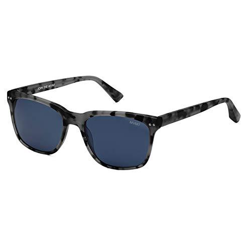 MVMT Ritual   Polarized Square Men's Sunglasses   Matte Sharkskin Grey/Blue   55 mm