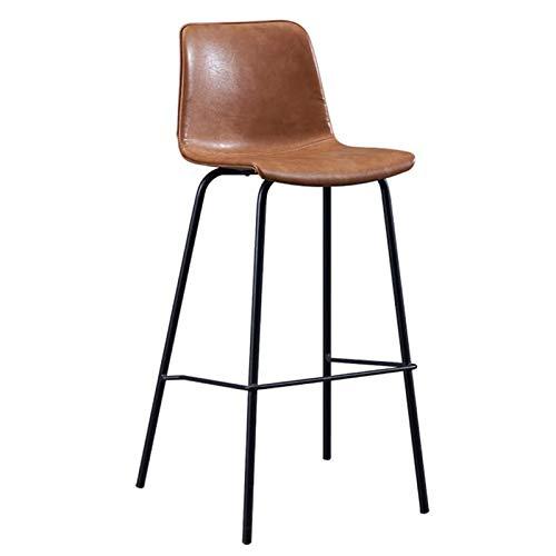 VERDELZ Frühstückstheke Bar Stühle Schmiedeeisen Bar Stuhl Fast-Food-Restaurant Trendy High Hocker Antik Braun, Küchen Frühstück Vintage Stuhl