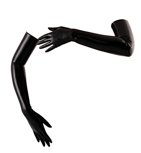 Latex Long Gloves (Opera Length) Fetish - Black (Medium)