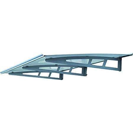 Color : A, Size : 60x60 RZEMIN Pensilina Tettoia Pannello di Resistenza in Lega di Alluminio Baldacchino Silenzioso Balcone Esterno Finestra Aria Condizionata Tenda da Pioggia Antipioggia