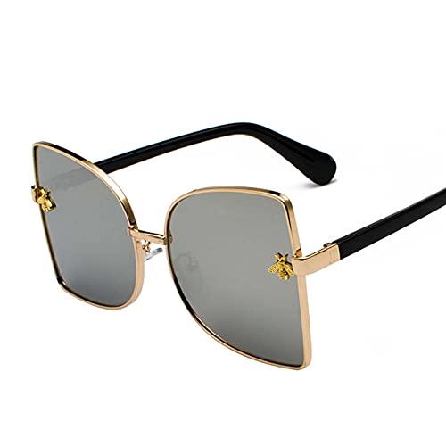 AMFG Gafas de sol de gafas de sol y gafas de sol grandes marco de mujer UV400 Gato Gato Personalidad Gafas de sombrilla Viaje al aire libre (Color : F)