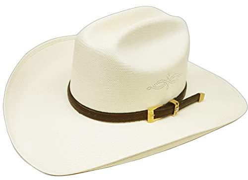 Modestone Traditional High Crown Rodeo Breezer Straw Cowboy Hat Grey