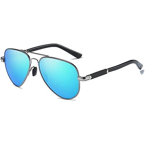 KK Timo Gafas de sol polarizadas con película de color marrón y azul para hombre (color: azul)