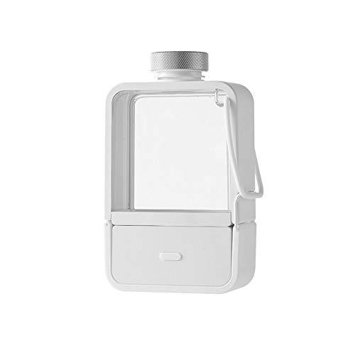 Botella de agua de hidrógeno portátil Generador de agua ionizada Generador y purificador de agua saludable de 3 minutos, antienvejecimiento, energético, deportivo, batería recargable, 350 ml, blanco