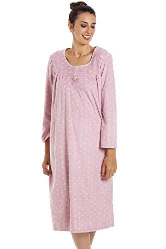 Camille Camicie da Notte in Morbido Pile a Maniche Lunghe Classic 44/46 Pink
