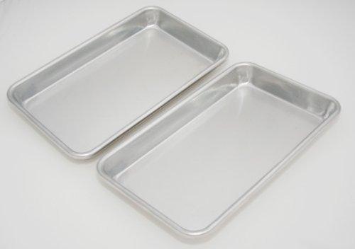 Libertyware SP610 Eigth Size Aluminium Sheet Pan, Pack of 2 (0.25 Sheet Pan)