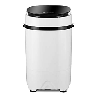 2-in-1 Portable Washing Machine Washer And Spin Dryer For Camping Dorms Apartments College Rooms 4.6 KG Washer Capacity Black