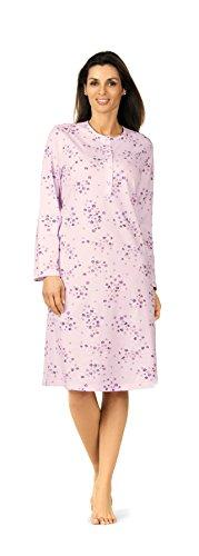 Comtessa 172199 Damen Nachthemd 100% Baumwolle Flieder Gr. 44-46 L