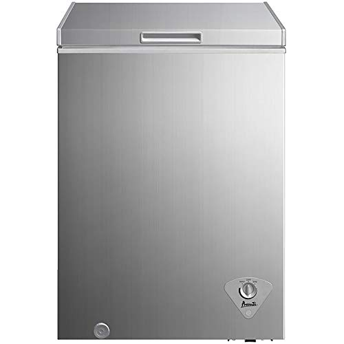 Avanti CF353M3S 22 Inch Freestanding Chest Compact Freezer with 3.5 cu. ft. Capacity, Stainless Steel Door, in Stainless Steel