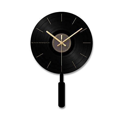 Esfera de cristal templado acrílico micrófono forma péndulo sala dormitorio péndulo reloj péndulo/reloj de pared/reloj FDWFN