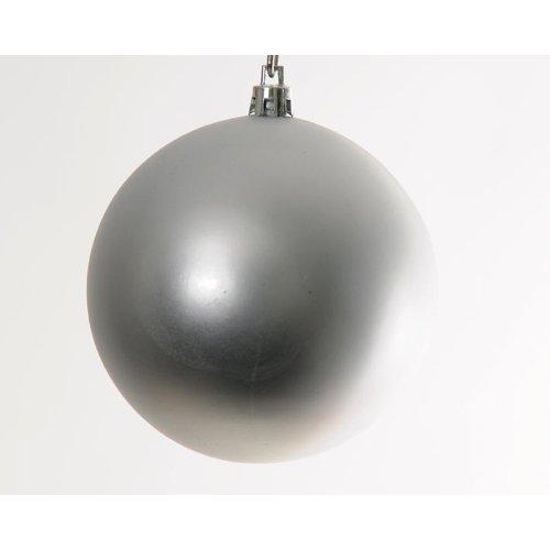 Hab&Gut -XB007- Weihnachtsbaum Kugeln, Durchmesser: 10cm, 6er Set,Farbe: Silber