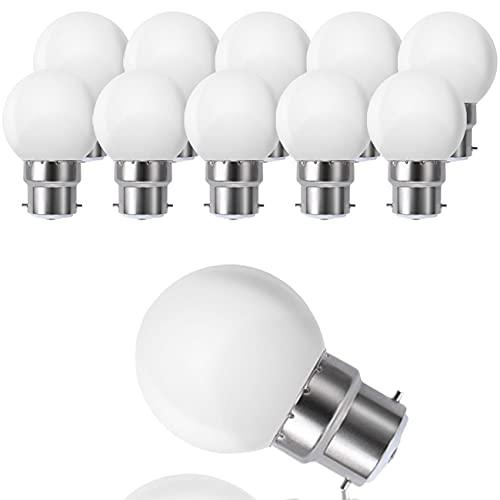 Suncan Confezione da 10 lampadine a LED B22 G45 Globus, sostituisce lampadine a incandescenza da 20 W, luce bianca calda 3000 K, 3 W, G45, 180 lm, copertura in PC opaco, non dimmerabile