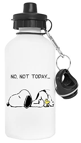 Lazy Dog Not Today Botella de Agua Blanco Aluminio Reutilizable Water Bottle White Aluminium Reusable