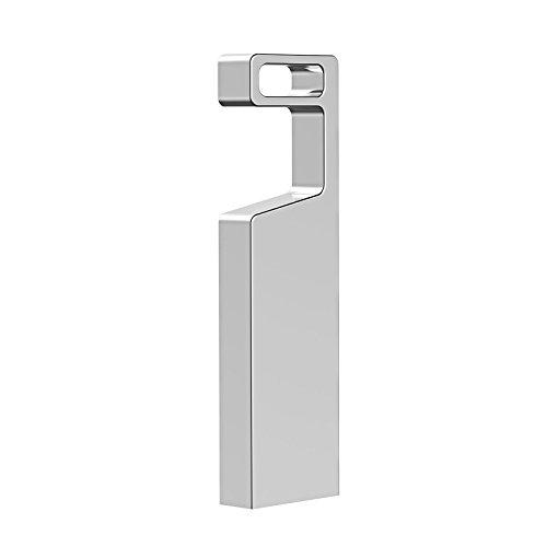 RAOYI USB Stick 64GB, USB 3.0 Metall Flash Laufwerk Memory Stick, Wasserdicht Handyhalter Design Speicherstick für Laptop/PC/TV/Autoradio (Silber)