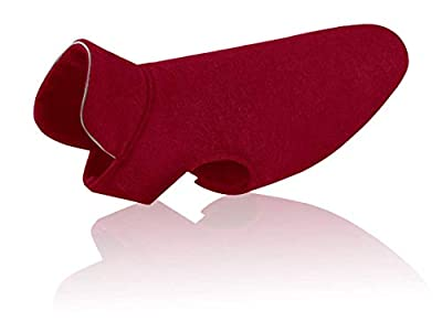 Tineer Reflective Dog Jacket Puppy Soft Fleece Coats Autumn Winter Warm Reflective Fashion Pet Clothing for Big Dogs (XL, Wine Red)