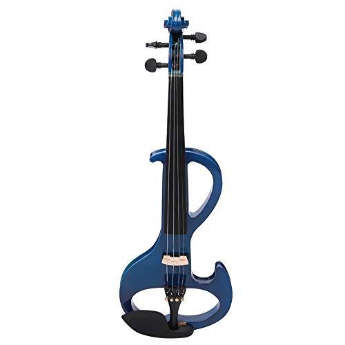 Violín acústico duradero, violín profesional único, conector de auriculares/micrófono de 3,7 mm para principiantes(blue)