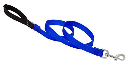 Dog Leash by Lupine in 3/4' Wide Blue 6-Foot Long with Padded Handle
