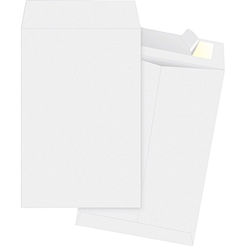Tyvek Envelopes 10x15 Strong Lightweight Professional Shipping Mailer Tear Resistant EnDoc Tyvek Construction & Easy Self Seal Closure  Bright White Dupont  Bulk Pack of 15  10 x 15