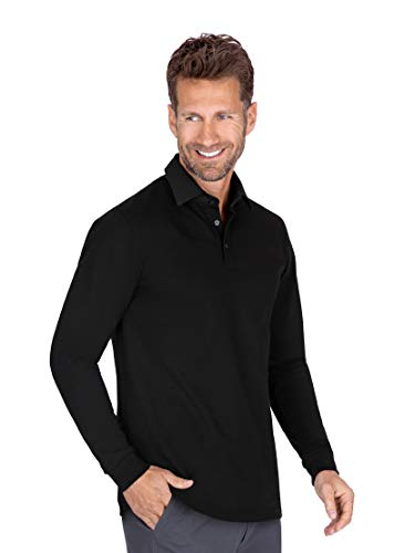 Trigema Herren Business Langarm-Polo mit Hemdkragen