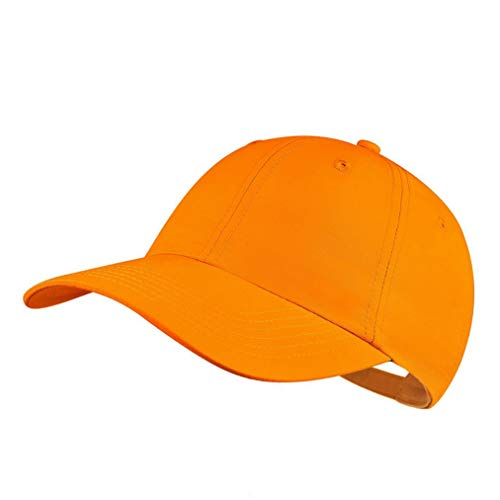 Quivk Dry Dad hat Summer Polo Baseball Cap Mens Outdoor Running Run Sports Sport Hats Cool UV Sun Caps Light Breathable Travel Golf Unstructured Trucker Hat for Men Women Girl Unisex Plain Gift Orange
