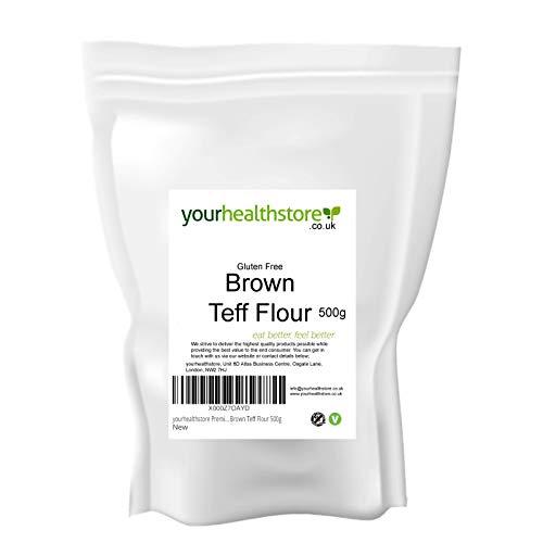 yourhealthstore Premium - Farina di Teff marrone senza glutine, 500 g