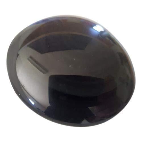 WLM Pointe Cristal de Roche + Galet Rond en Obsidienne Oeil céleste 6 cm