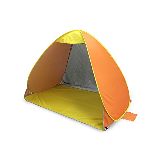 Charm4you Beach tent child sun shelter,Full-automatic free-built country beach shade tent-Orange_200*120 * 130cm,Easy Set Up Beach Sun Shelters Tent